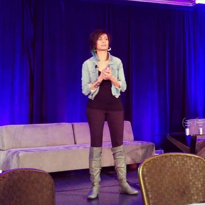 Kudos for wearing gym pants on stage at a conference women2com