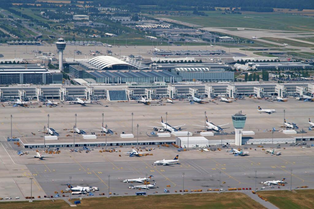 Flughafen Muenchen, von oben, Lufthansa AG, (C) Kerstin Roßkopp , © Lufthansa AG (Homepage) (17.02.2014)