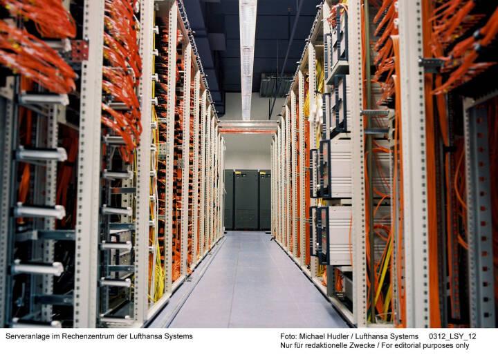 Serveranlage im Rechenzentrum der Lufthansa Systems Foto: Michael Hudler