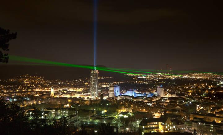 Laser über Jena 2008, Jenoptik AG