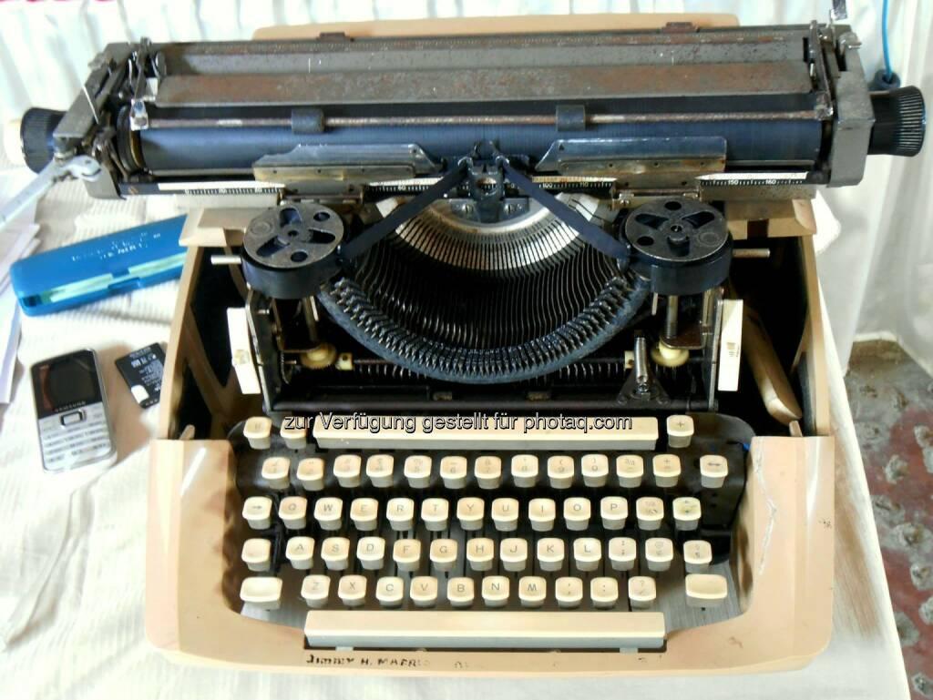 Typewriter, Schreibmaschine (2014), © Dietmar Scherf (17.02.2014)