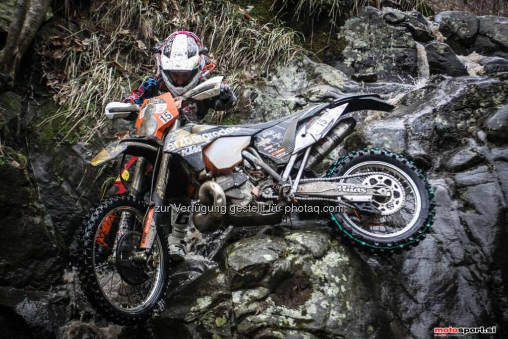 Lars Enöckl, Erzbergrodeo Friends Motorradreporter Team: mit Platz 9 der beste Österreicher beim international besetzten Xtreme Enduro Rennen Hell`s Gate in Italien (18.02.2014)