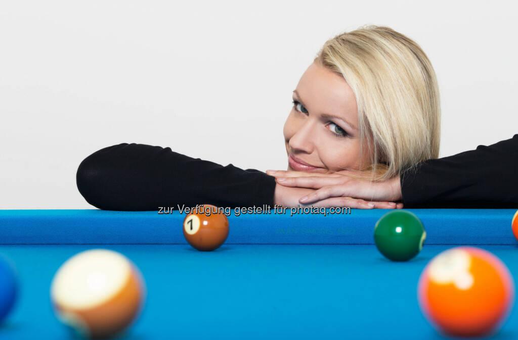 Jasmin Ouschan: Die international renommierte Pool-Billard Athletin  ist neue Markenbotschafterin des führenden Fitness-Qualitäts-Verbundes Injoy in Österreich. (18.02.2014)
