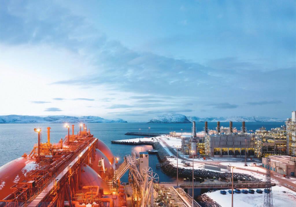 LNG-Tanker Arctic Princess übernimmt Ladung von der Erdgasverflüssigungsanlage auf der Insel Melkoya bei Hammerfest, Norwegen, Linde AG, © Linde AG (Homepage) (18.02.2014)