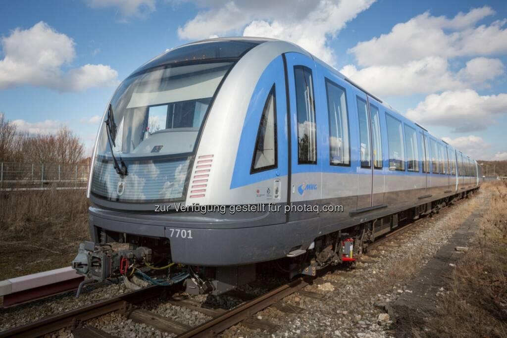 Siemens und die Münchner Verkehrsgesellschaft (MVG) haben heute zusammen das erste U-Bahn-Fahrzeug aus der neuen C2-Serie in München der Öffentlichkeit präsentiert. (Bild: Siemens) (21.02.2014)
