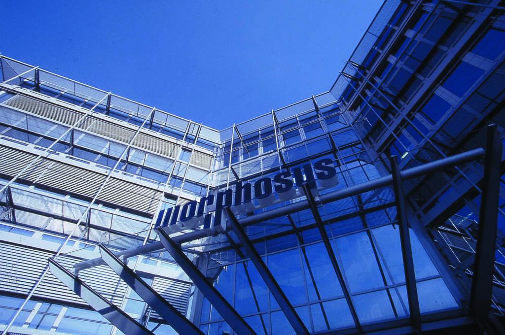 Eingang des MorphoSys-Stammsitzes in Martinsried bei München, © MorphoSys AG (Homepage) (23.02.2014)