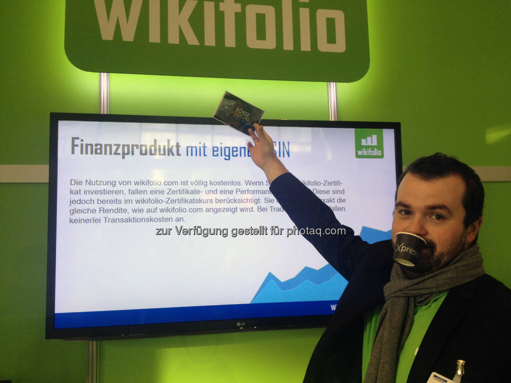 Stefan Greunz mit Xpresso, Börse Social Network, wikifolio, © wikifolio (24.02.2014)