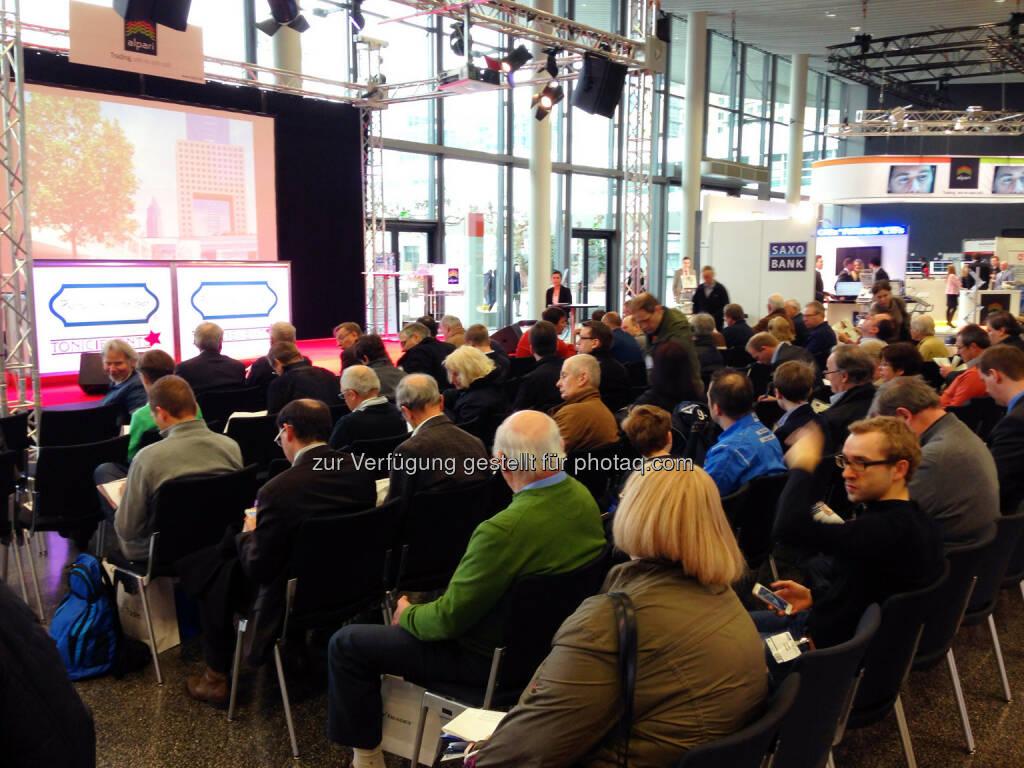 Publikum Deutsche Anlegermesse Frankfurt, © wikifolio (24.02.2014)