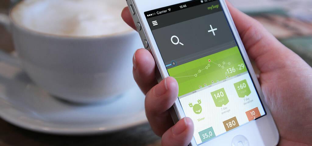 mySugr: Der E-Health-Investor XLHealth investiert eine siebenstellige Summe in die Diabetes-App mySugr. Siehe http://www.deutsche-startups.de/2014/02/24/xlhealth-investiert-millionensumme-mysugr/ (Bild mySugr) (24.02.2014)