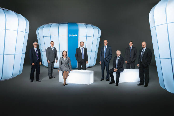 Harald Schwager, Michael Heinz, Margret Suckale, Martin Brudermüller, Kurt Bock, Andreas Kreimeyer, Hans-Ulrich Engel, Wayne T. Smith (alle Vorstand BASF)