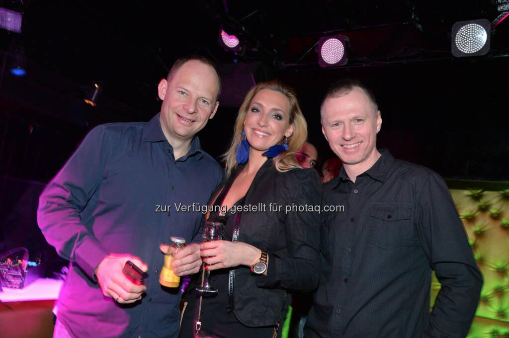 Eventexperte Alexander Knechtsberger, Cineplexx-Marketerin Tanja Schober, Austro-DJ Alex List, © leisure.at/Christian Jobst (25.02.2014)