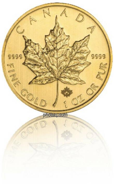 Maple Leaf 1/1 Hersteller: Royal Canadian Mint Herkunftsland: Kanada Durchmesser: 30,00 mm Dicke: 2,87 mm Feingewicht: 31,103 Bruttogewicht: 31,103 Feinheit: 999,9 Erstprägung: 1979