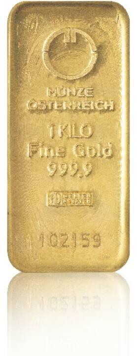 Goldbarren - Hersteller: Münze Österreich Herkunftsland: Österreich Feingewicht: 1.000g Feinheit: 999,9