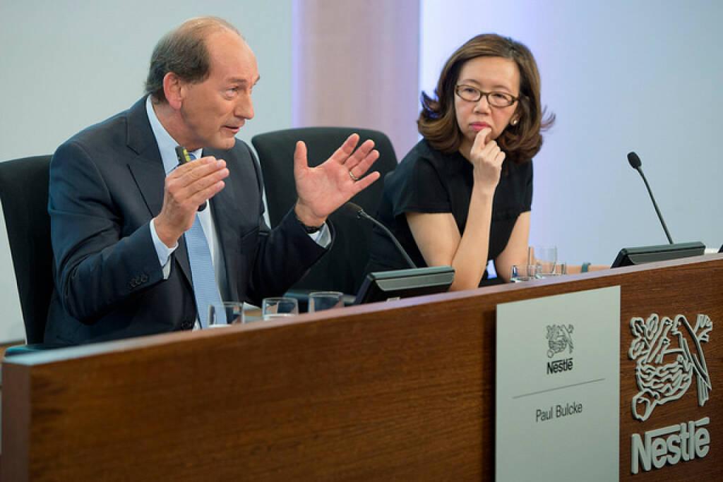 Paul Bulcke and Wan Ling Martello, Nestlé, © Nestlé (Homepage) (04.03.2014)