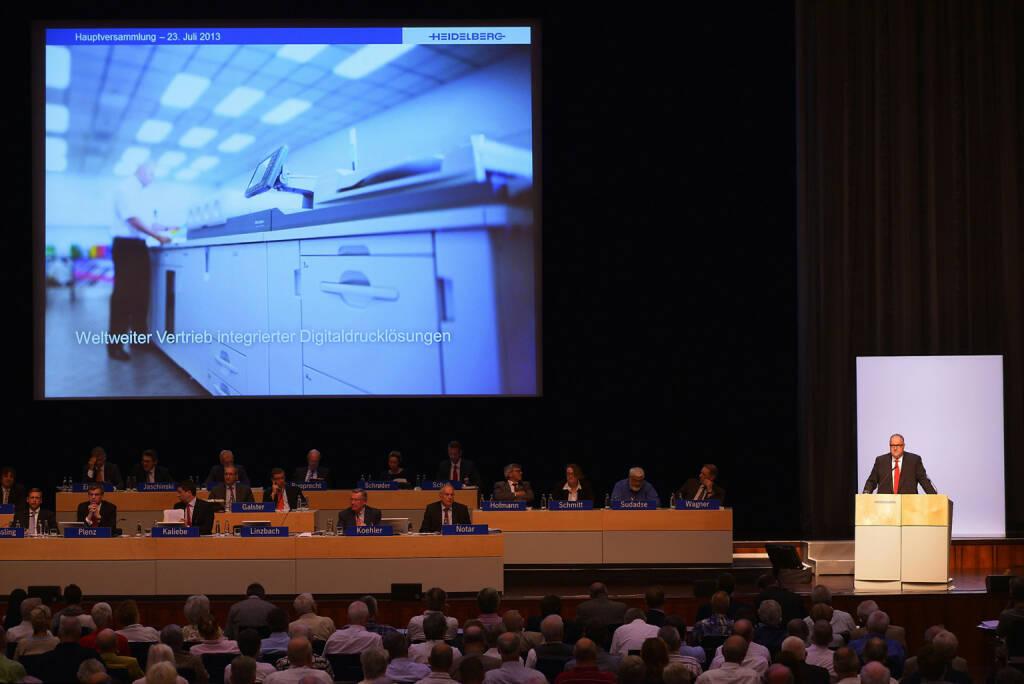 Hauptversammlung der Heidelberger Druckmaschinen AG zum Geschäftsjahr 2012/2013, © Heidelberger Druckmaschinen AG (Homepage) (12.03.2014)