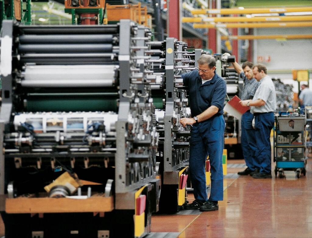 Fließbandproduktion Druckmaschinen, Heidelberger Druckmaschinen AG, © Heidelberger Druckmaschinen AG (Homepage) (12.03.2014)