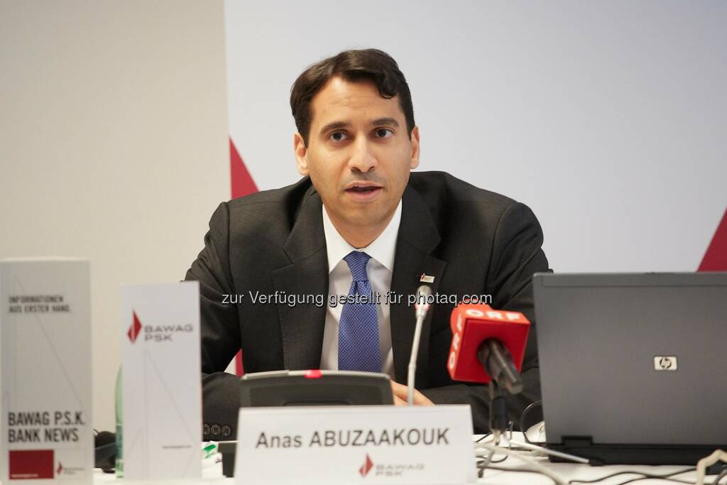 Anas Abuzaakouk, CFO Bawag PSK , ©  Bawag PSK/APA-Fotoservice/Preiss (14.03.2014)