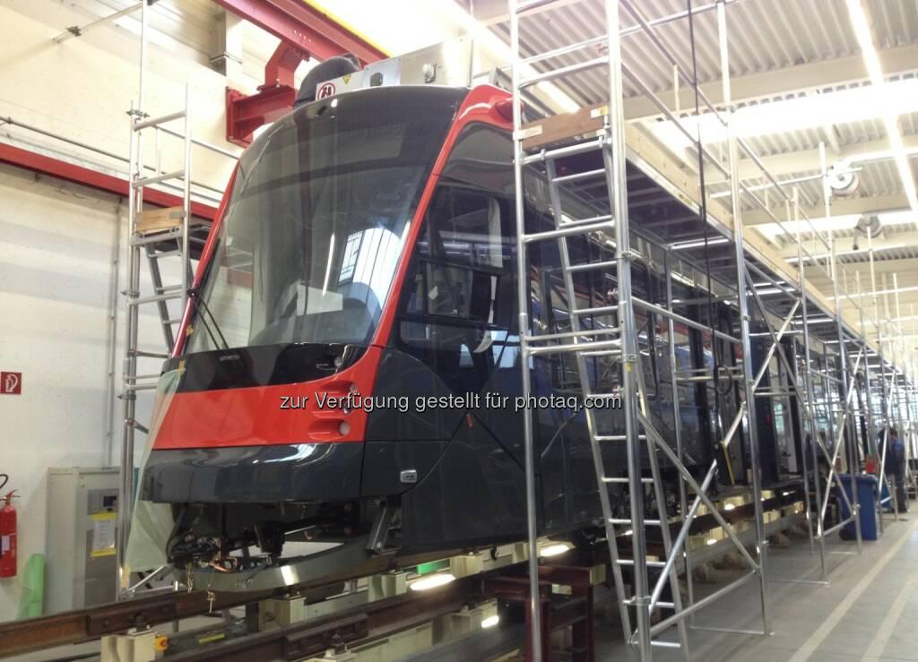Der Betreiber HTM bestellte bei Siemens weitere 20 Straßenbahnen vom Typ Avenio für Den Haag, Niederlande. Der Auftragswert beläuft sich auf rund 55 Millionen Euro. (Bild: Siemens) (14.03.2014)