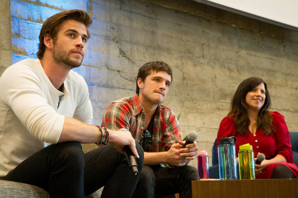 Josh Hutcherson & Liam Hemsworth visit Twitter HQ, Copyright Aaron Durand for Twitter, Inc., © Twitter Inc.  (15.03.2014)