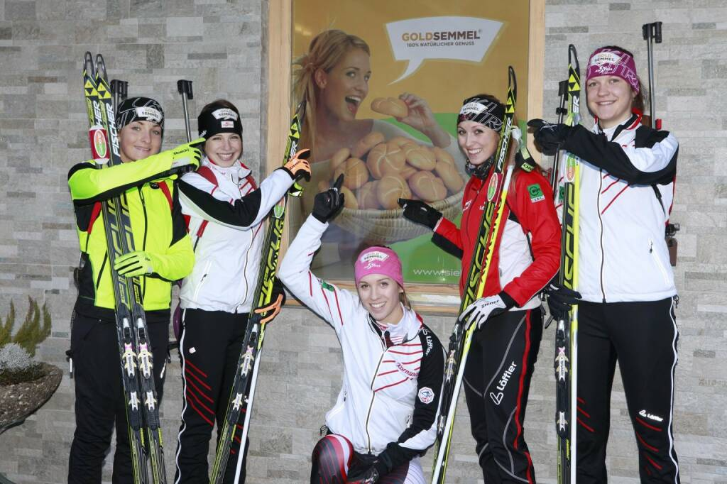 Lisa Ehgartner, Magdalena Millinger, Fabienne Hartweger, Raphaela Ritzer und Anna Kitzbichler - Goldsemmelteam Biathlon (15.03.2014)