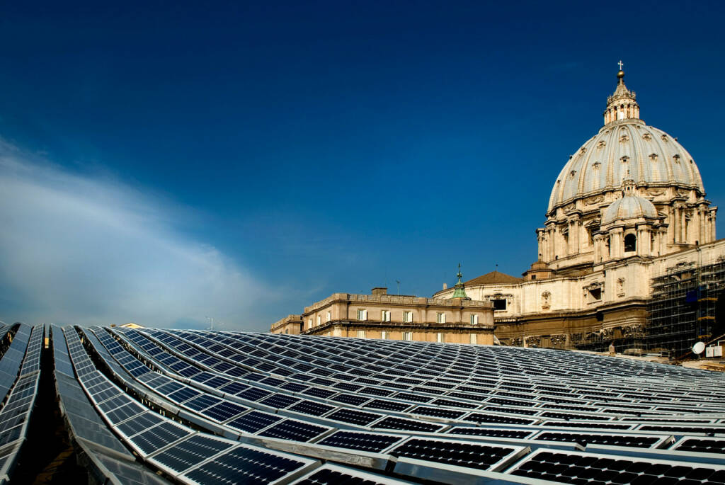 Solarstrom beim Papst, Solarzellen, Vatikan, Rom, SolarWorld AG, © SolarWorld AG (Homepage) (16.03.2014)