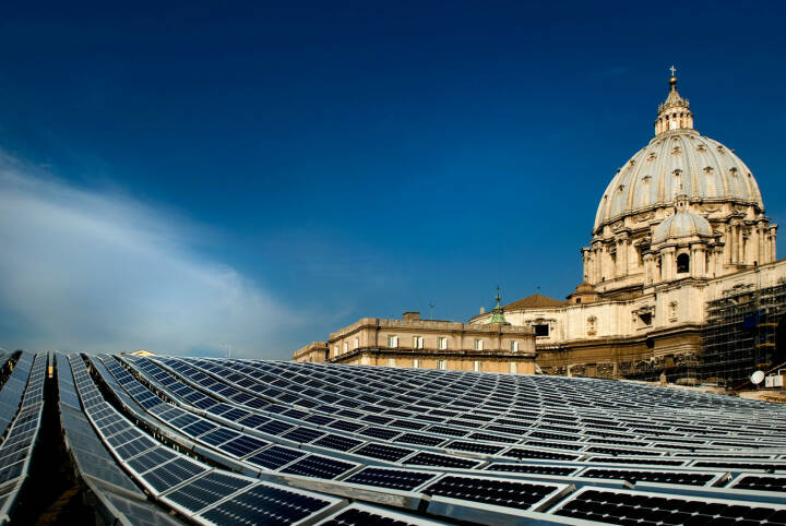 Solarstrom beim Papst, Solarzellen, Vatikan, Rom, SolarWorld AG