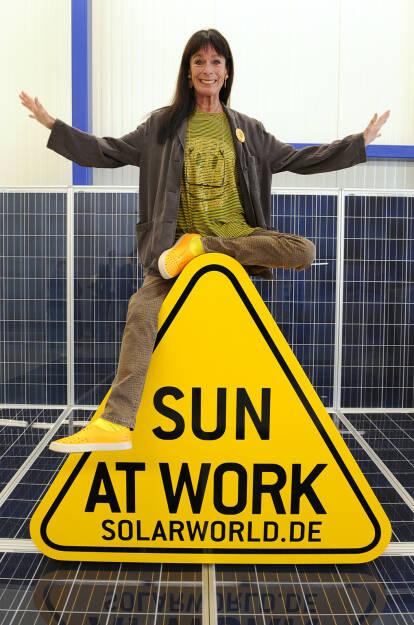 Geraldin Chaplin bei der SolarWorld AG, © SolarWorld AG (Homepage) (16.03.2014)