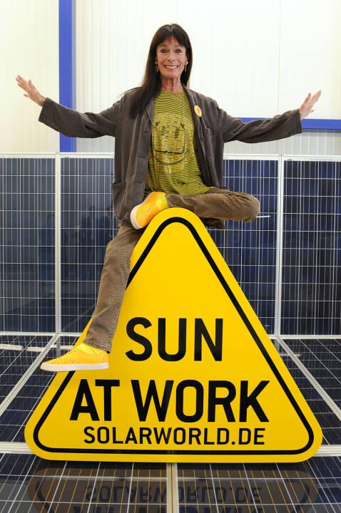 Geraldin Chaplin bei der SolarWorld AG