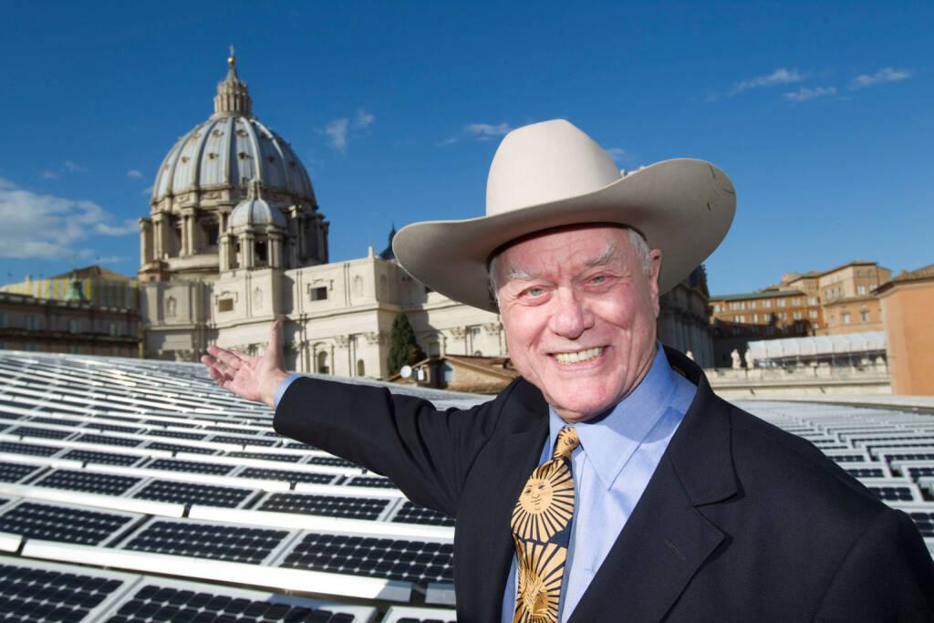 Larry Hagman wirbt für SolarWorld AG, © SolarWorld AG (Homepage) (16.03.2014)