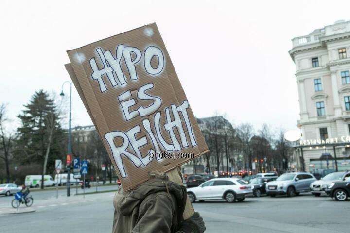 Hypo es reicht Hypo Demonstration in Wien am 18.03.2014