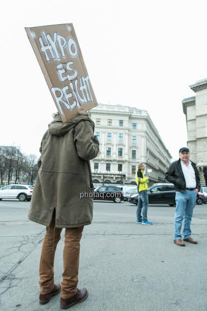 Hypo es reicht- Hypo Demonstration in Wien am 18.03.2014, © Martina Draper/finanzmarktfoto.at (18.03.2014)