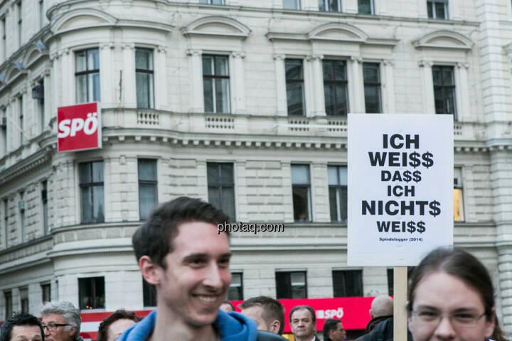 Vor SPÖ - Hypo Demonstration in Wien am 18.03.2014