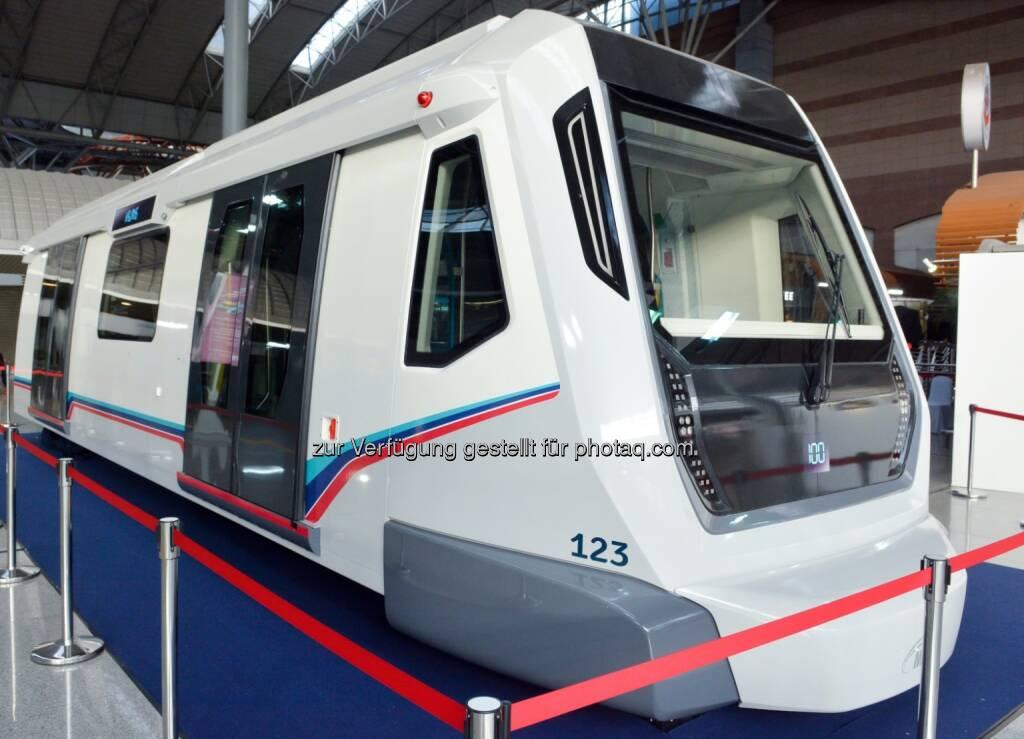 Siemens und Mass Rapid Transit Corporation Sdn Bhd (MRT Corp) haben in Kuala Lumpur, Malaysia, erstmals ein 1:1-Modell der neuen Metrozüge vom Typ Inspiro vorgestellt. (Bild: Siemens) (19.03.2014)