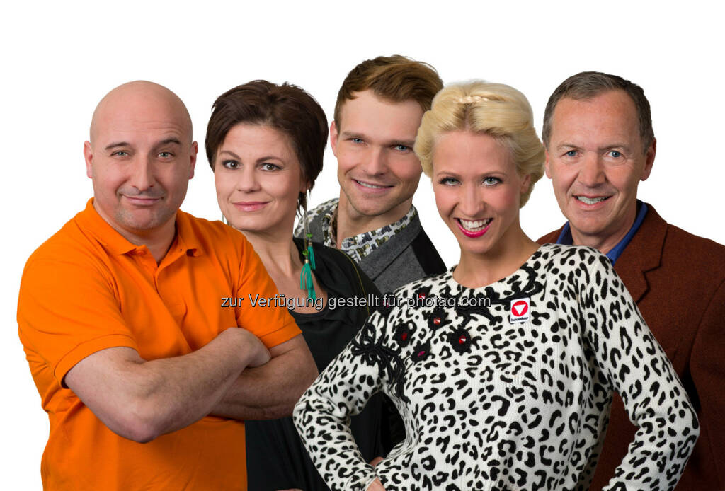 Christoph Fälbl, Eva Maria Marold, Vadim Garbuzov, Kathrin Menzinger und Ossi Schellmann, © Purina PetCare Austria (20.03.2014)