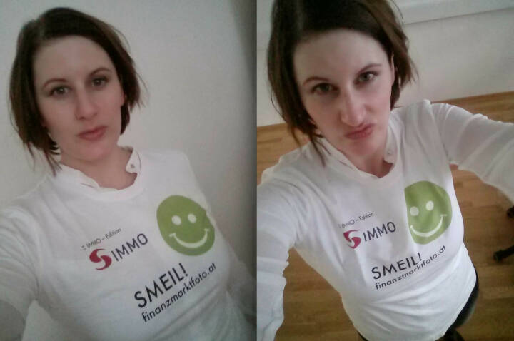 Digital Affairs Selfie Smeil: Judith Denkmayr (Shirt in der S Immo-Edition)