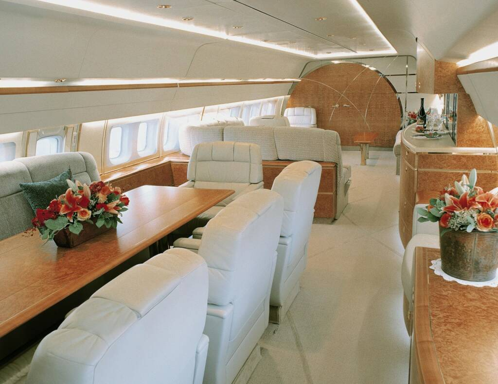 Conference or dining area on a Boeing Business Jet, Boeing Company, © Boeing Company (Homepage) (20.03.2014)
