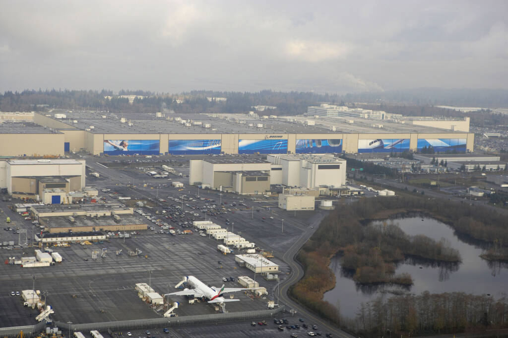 Boeing's largest site located in Everett, Wash, factory, Boeing Company, © Boeing Company (Homepage) (20.03.2014)