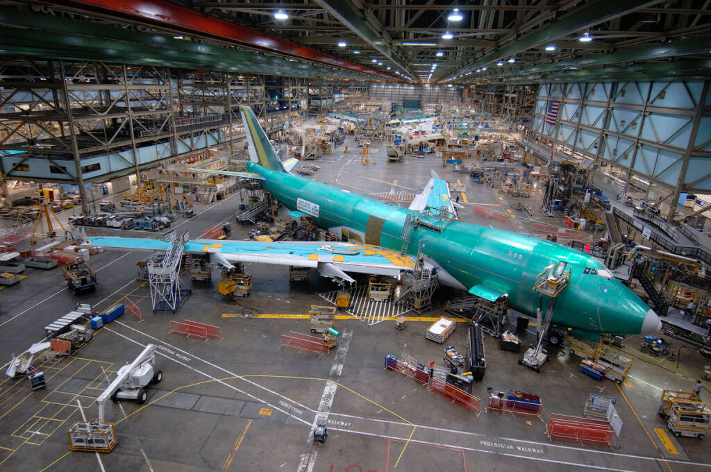 Boeing 747-400 Freighter in Final Assembly in the Everett Factory, Boeing Company