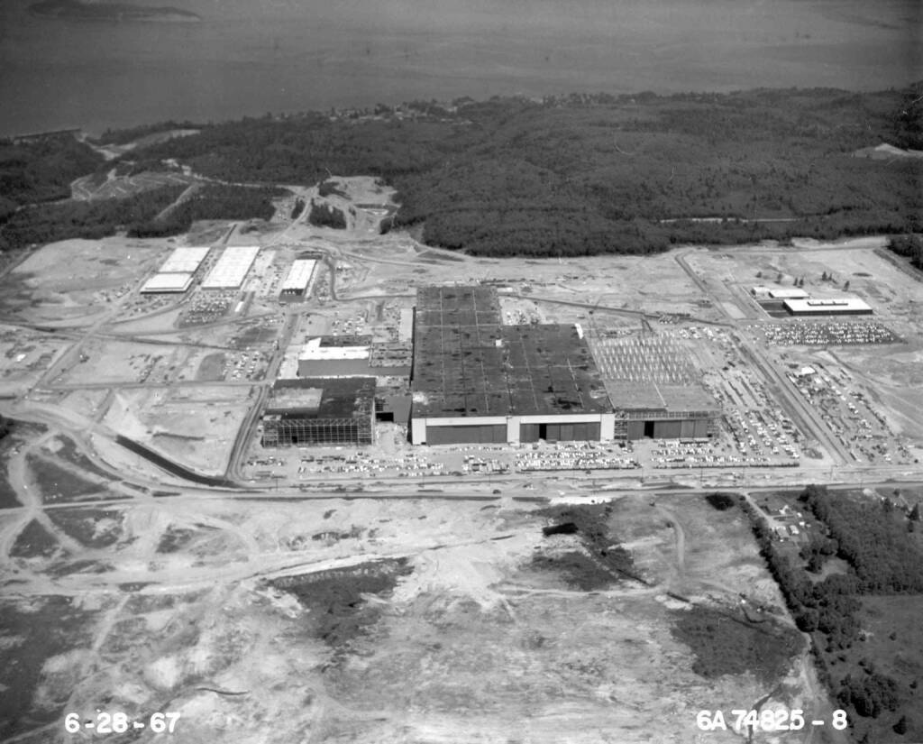 Boeing's Everett, Wash., factory building in June of 1967, Boeing Company, © Boeing Company (Homepage) (20.03.2014)