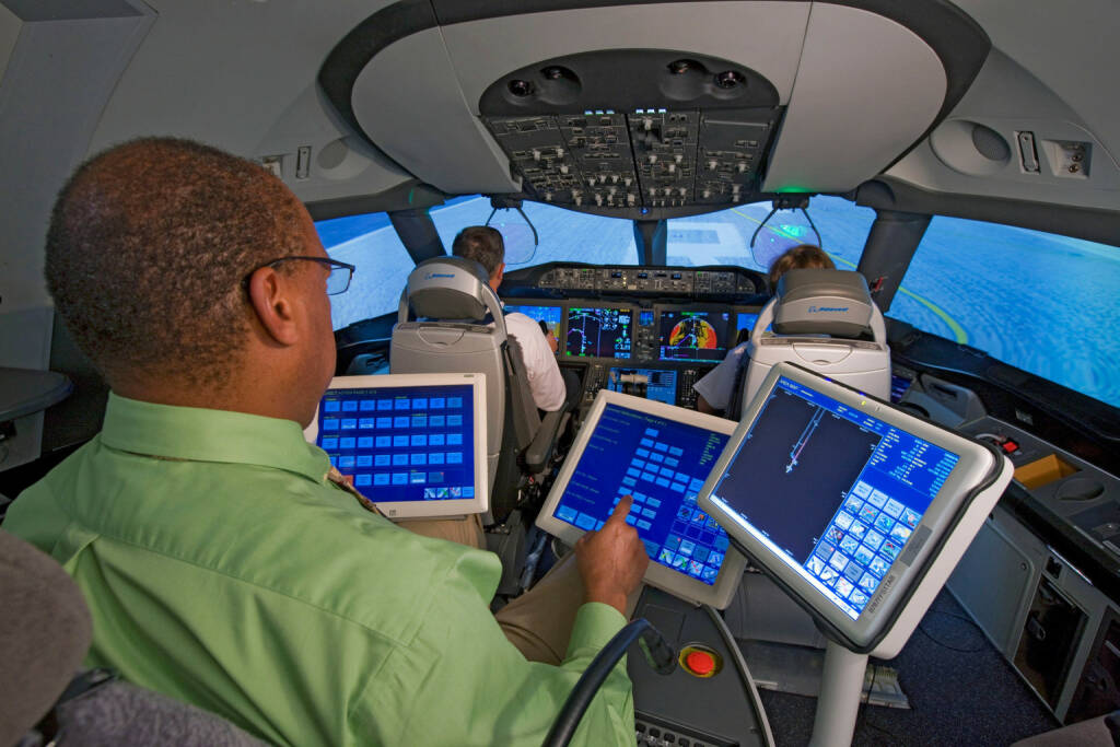 Interior 787 Motion Based Simulator, Boeing Company