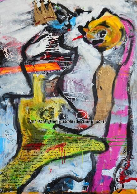 Reinhold Ponesch, You make me crazy, Acryl/Öl/Leinwand, 140 x 100 cm, Fotocredit: Reinhold Ponesch (21.03.2014)