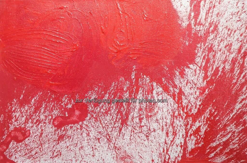 Hermann Nitsch - Ohne Titel, Acryl/Jute, 2013, 100 x 150 cm, Fotocredit: Galerie Maringer (21.03.2014)