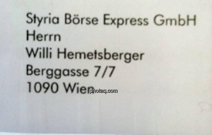 War Salzburg-340-Mio.Prüfer Willi Hemetsberger mal beim Börse Express angesiedelt? War er nicht, hat aber viel Werbepost bekommen ...
