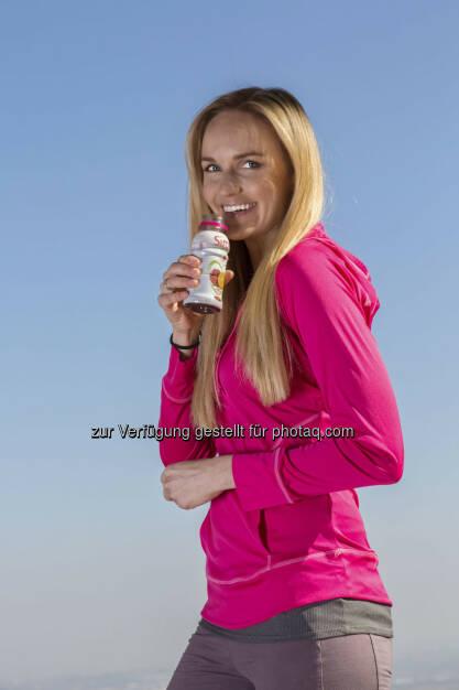 Sirco ist das erste Getränk in Österreich, welches das bioaktive Tomaten-Extrakt fruitflow® enthält. Als Markenbotschafterin fungiert Ex-Miss Austria Patricia Kaiser (c) Sirco   (24.03.2014)