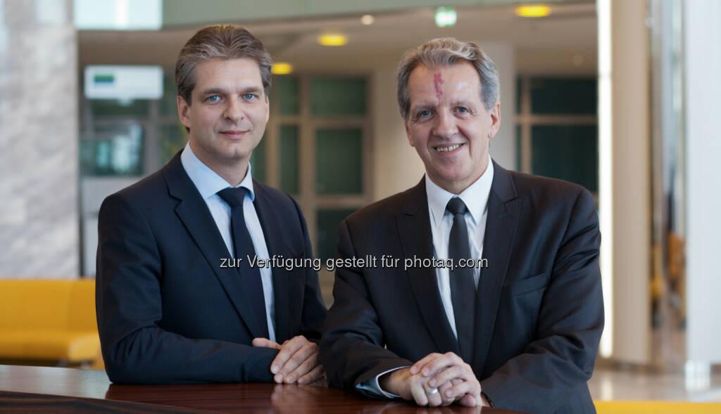 Wolfgang Höfner und Christian Sanjath wurden mit 19. März 2014 als Geschäftsführer der neu gegründeten Raiffeisen Verbundunternehmen-IT GmbH bestellt. Wolfgang Höfner leitet bisher den IT-Bereich von Raiffeisen Capital Management und Christian Sanjath zeichnet für die Informatik der Raiffeisen Bausparkasse verantwortlich (c) Aussendung (24.03.2014)
