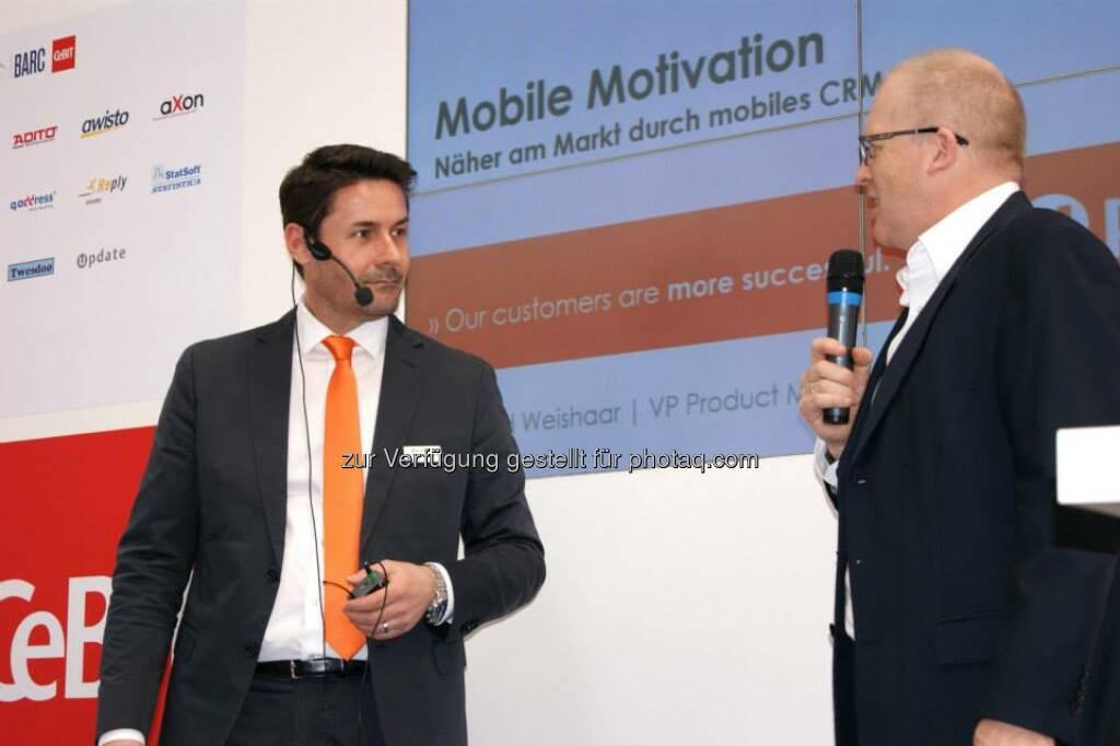 Vortrag Gerd Weishaar, VP Product Management update software AG: Näher am Markt durch mobiles CRM  Hier Aufzeichnung ansehen:  http://bit.ly/CeBITmobilesCRM, © update (25.03.2014)