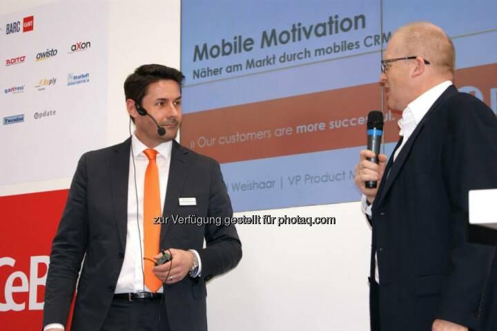 Vortrag Gerd Weishaar, VP Product Management update software AG: Näher am Markt durch mobiles CRM  Hier Aufzeichnung ansehen:  http://bit.ly/CeBITmobilesCRM