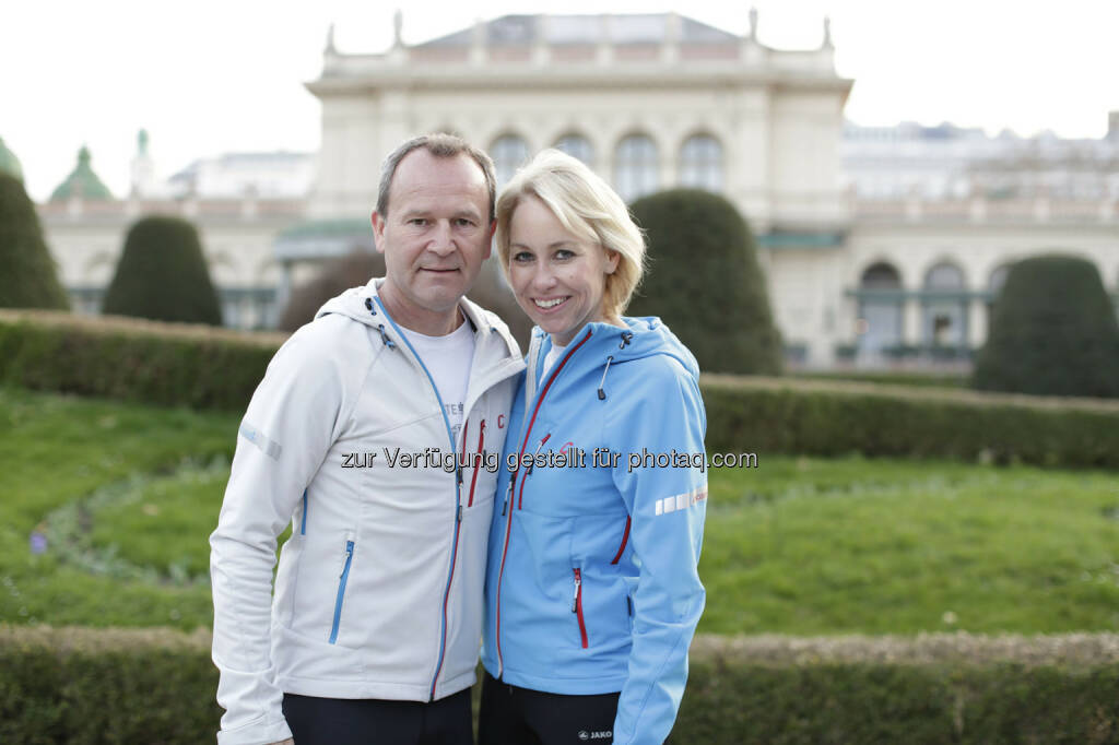 Erste Bank Vienna Night Run Veranstalter Hannes Menitz, Christine Grafinger, © leisure.at/Stefan Joham (26.03.2014)