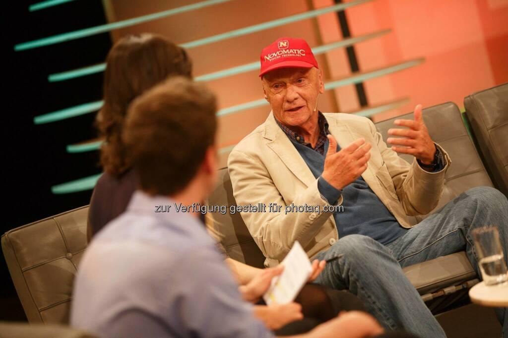 Niki Lauda bei der YPD-Challenge auf Servus TV (c) Servus TV (27.03.2014)