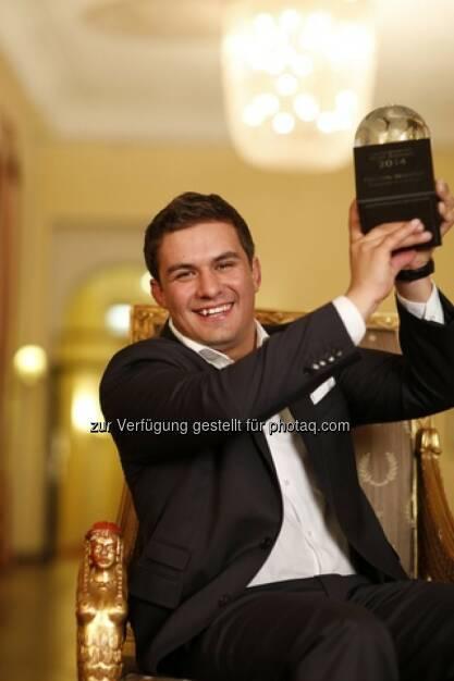 Christoph Wachter (Weingut Wachter-Wiesler) ist vom Feinschmecker-Magazin zum Necomer of the Year gekürt worden (Bild: A. Jahn & M. Bassler), © Aussendung (28.03.2014)